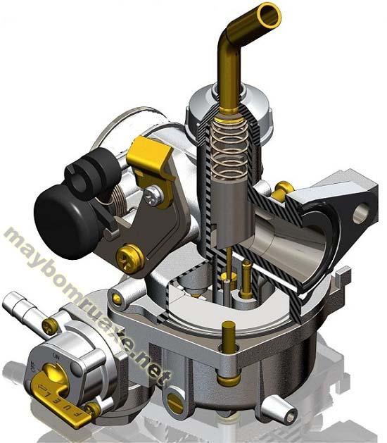 Vệ sinh bộ chế hòa khí xe máy