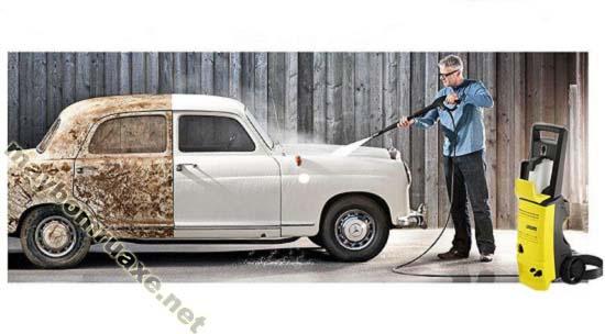 Karcher K3 450 sở hữu  áp lực phun rửa mạnh