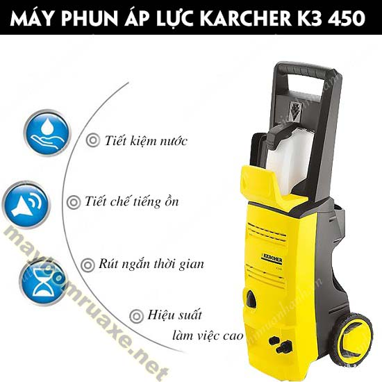 Máy xịt rửa xe Karcher K3 450