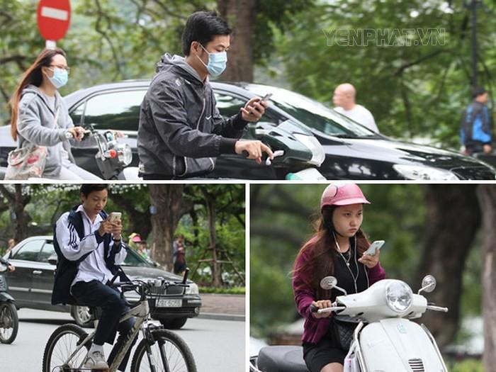 Việc sử dụng điện thoại khi tham gia giao thông gặp nhiều ở giới trẻ