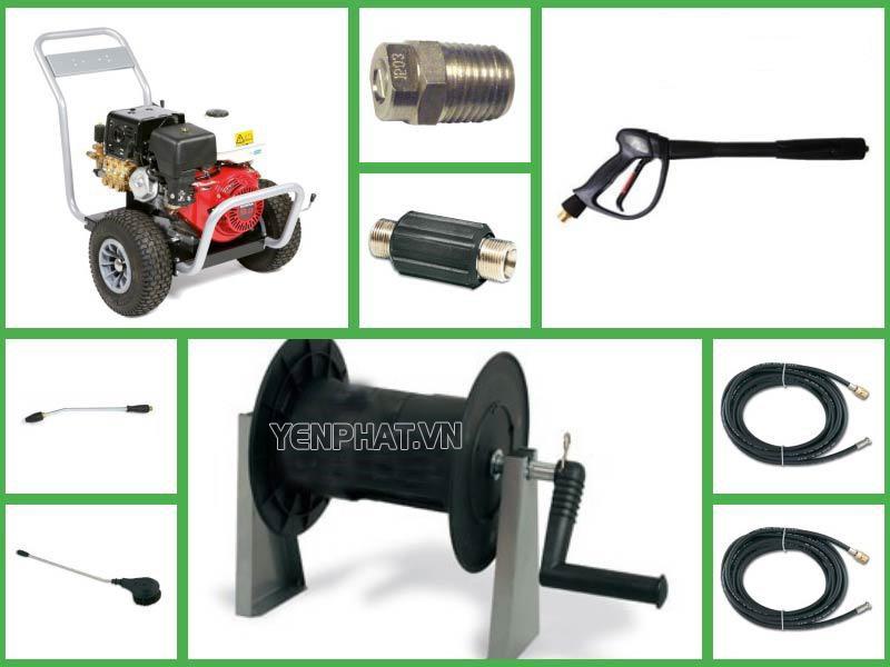 Các linh kiện máy rửa xe chạy xăng có cấu tạo đơn giản, dễ mua