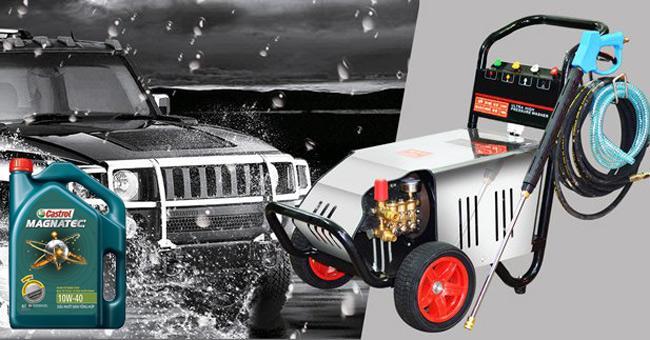 Nhớt giúp máy rửa xe vận hành ổn định, kéo dài tuổi thọ