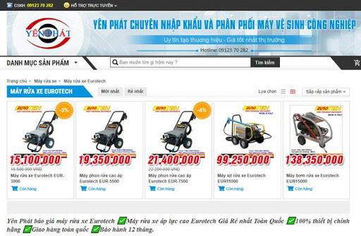 Yên Phát cung ứng rất nhiều các model máy rửa xe Eurotech