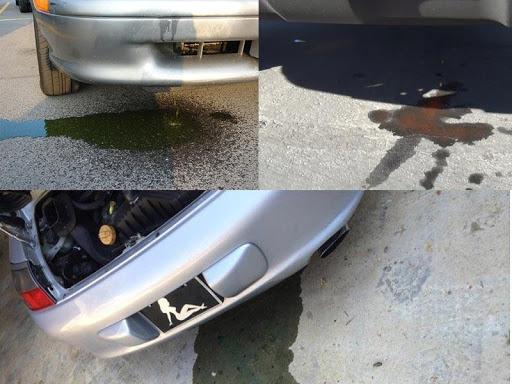 Kiểm tra những vùng nước rò rỉ từ xe