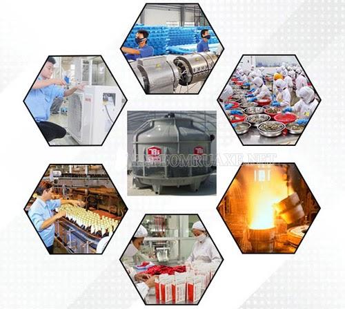ứng dụng tháp giải nhiệt công nghiệp