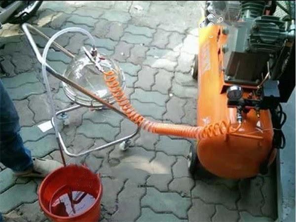 Hướng dẫn sử dụng máy hút nhớt xe máy an toàn