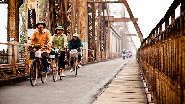 Cầu Long Biên mang đậm dấu ấn lịch sử